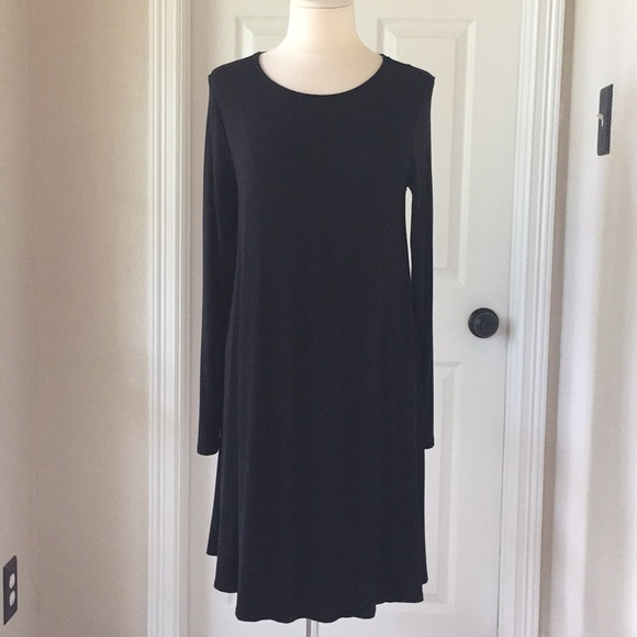 Old Navy Dresses & Skirts - Old Navy Black Long Sleeve Swing Dress Sz Large